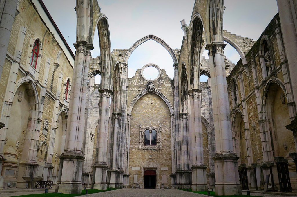 The ruined Convento do Carmo
