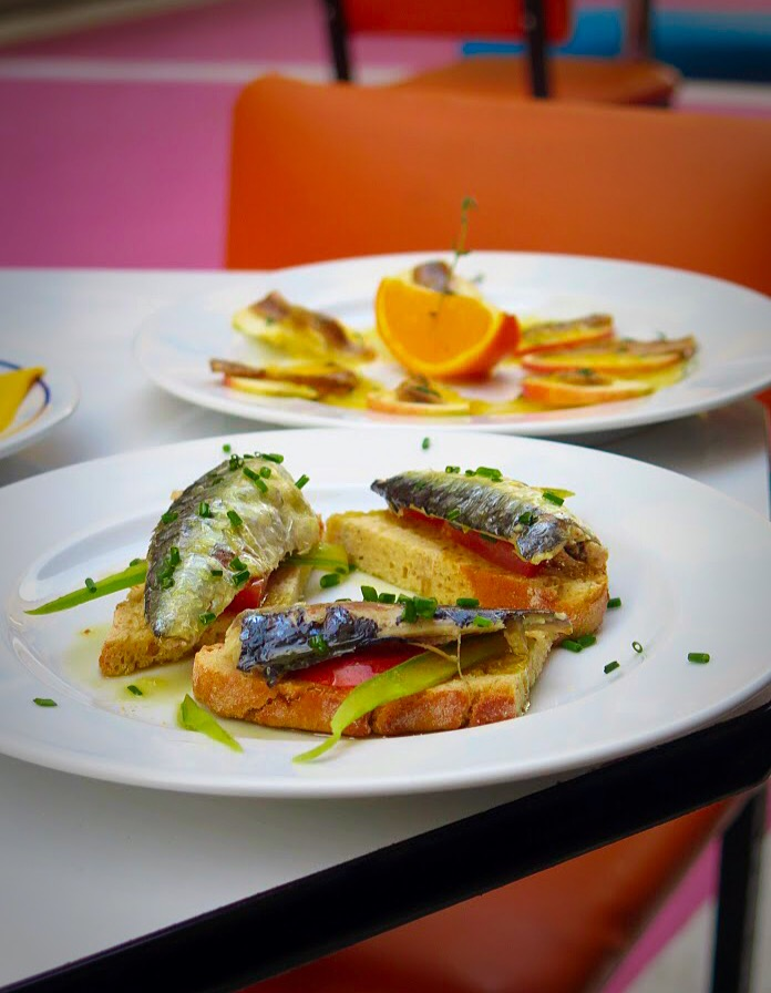 A Portuguese seafood lunch