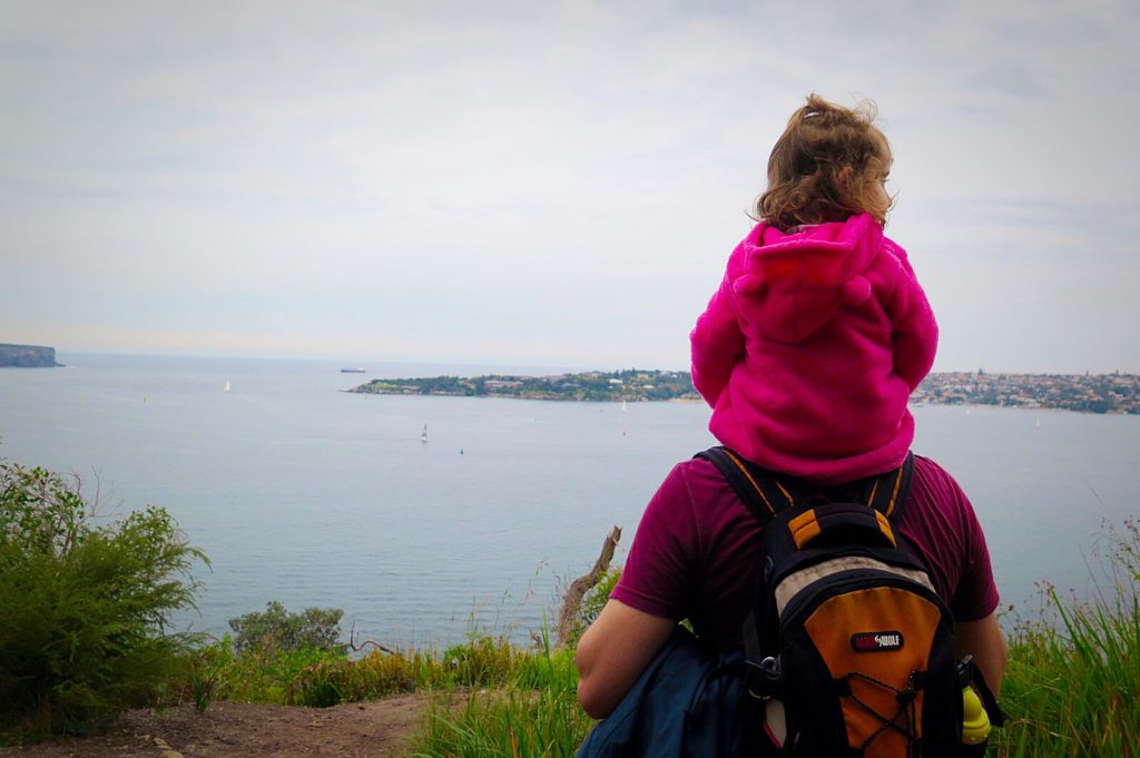 Daddy and daughter lookout