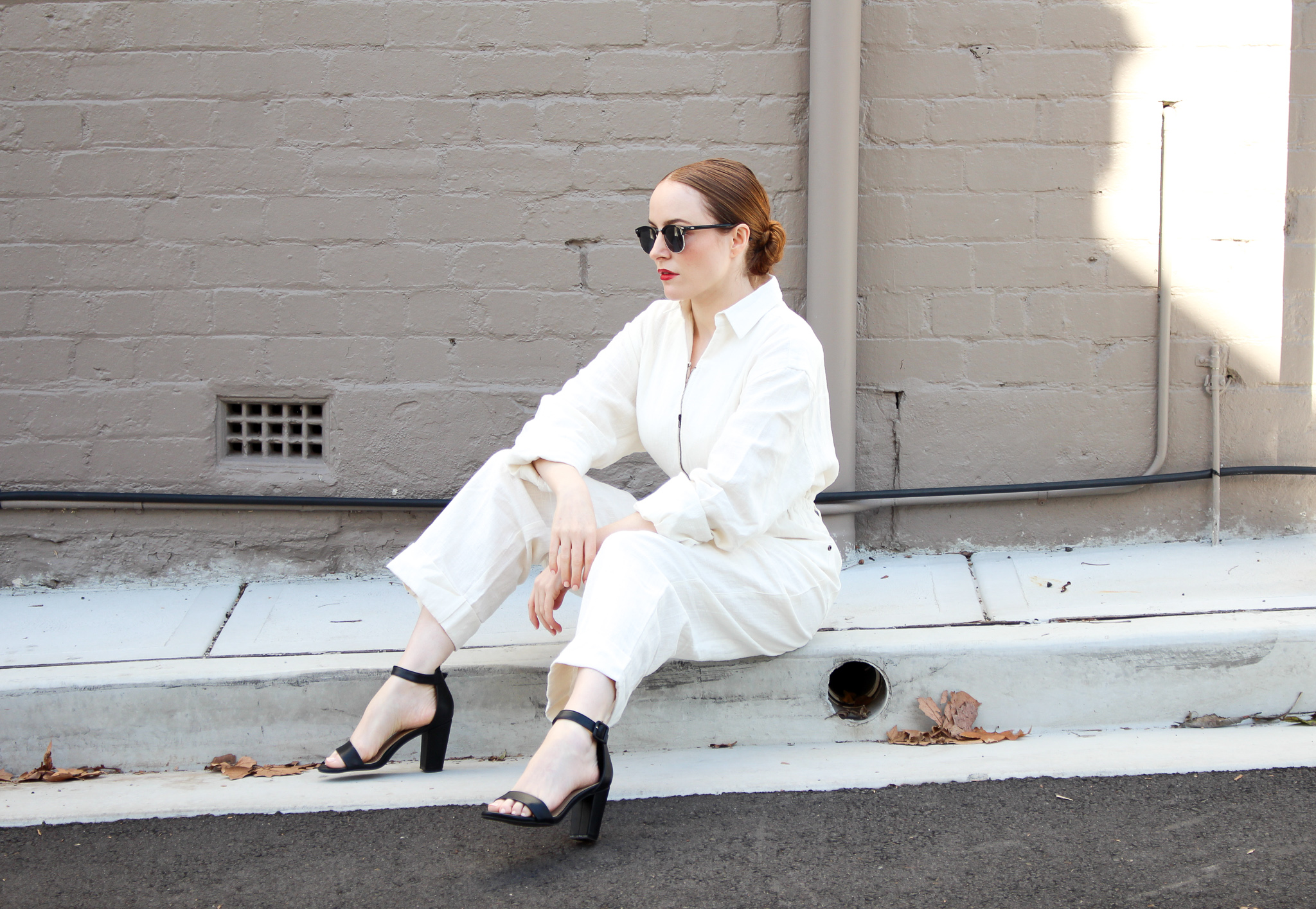 PRINCESS POLLY SAMMY ROBINSON | Jumpsuit In Cream | Seymour & Ford