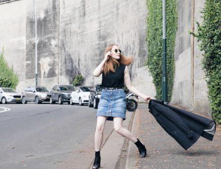 MASSIMO DUTTI | Sleeveless Polo Knit In Black | Seymour & Ford