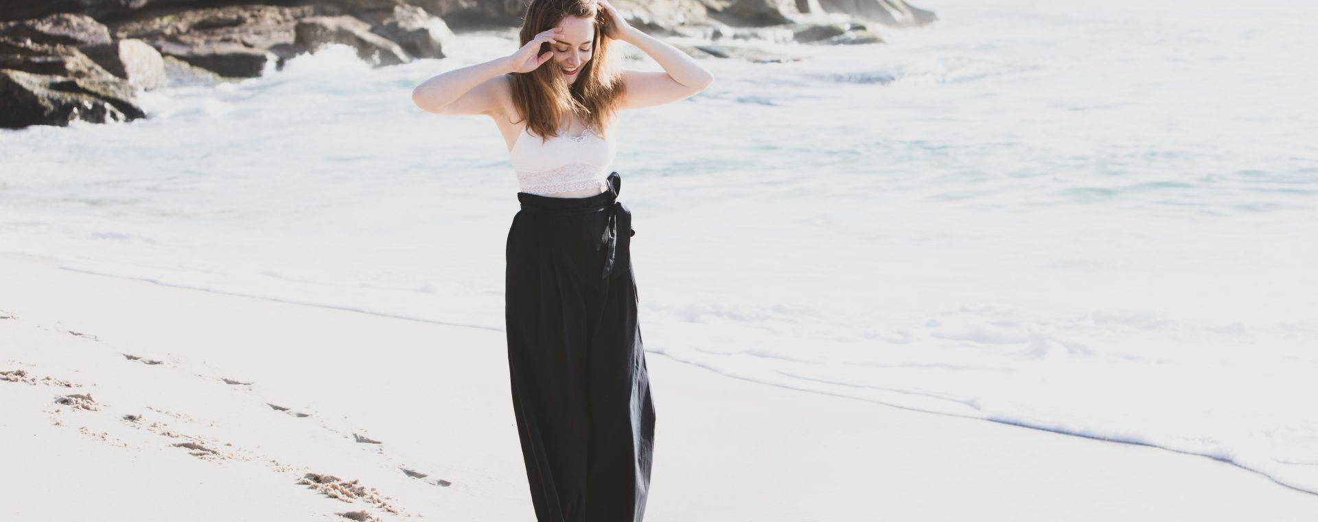 TRENERY | Wide Legged Pant In Navy | Seymour & Ford