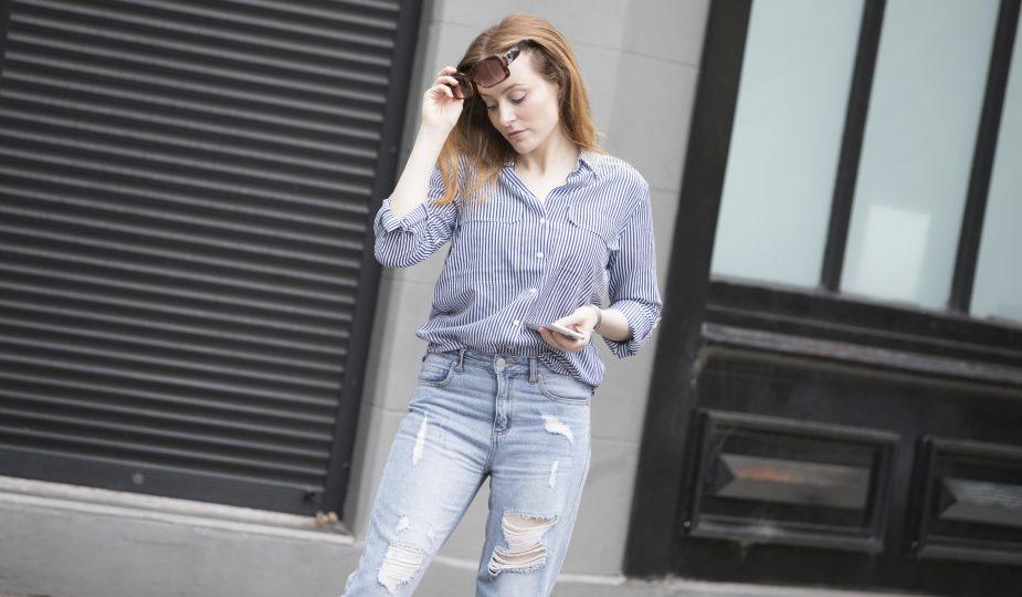 SPORTSCRAFT | Stripe Shirt & Boyfriend Jeans | Seymour & Ford