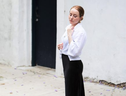 MICHAEL LO SORDO | Black Silk Slip Dress | Seymour & Ford